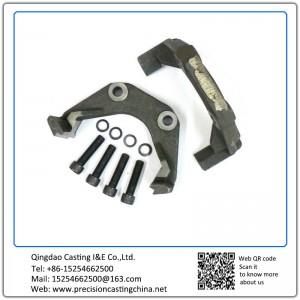 Customized Carbon Steel Disc Brake Slider Caliper Brackets Investment Casting