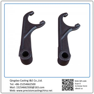 Customized Carbon Steel Precoated Sand Casting Truck Connectors Clutch Fork