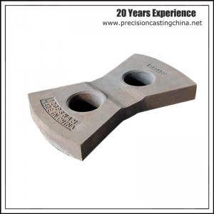 Alloy Steel Resin Sand Casting Impact Crusher Hammer Plate
