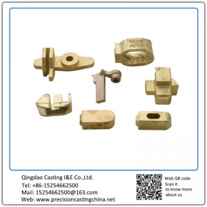 Customized Copper Casting Soluble Glass Casting Material Handling Spare Parts