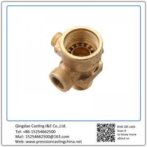 Customized Copper Casting Waterglass Casting Water Supply Pipe Fittings with Thread