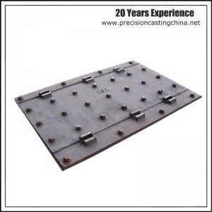 Carbon Steel Plate Chemical Factory Resin-bonded Sand Casting