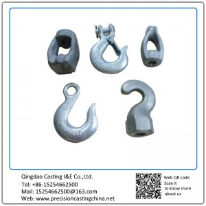 Customized Hooks Resin Coated Sand Casting Carbon Steel
