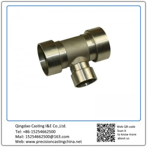 Customized Metal Castings Tee Joint Pipe Fittings Investment Casting
