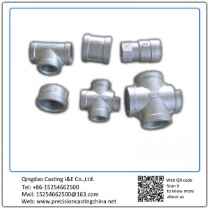 Customized Pipe fittings investment casting Grey Iron