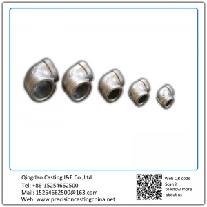 Customized Pipe fittings tube fittings investment casting process Nodular Iron