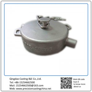 Customized Powder Coating Dust Cap For Tank Container Alloy Steel Shell Mould Casting