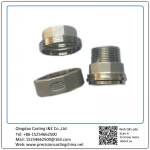 Customized CNC Machined Stainless Steel Precision Casting Pipe Connectors with Threads