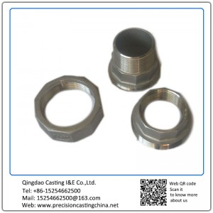 Customized CNC Machined Stainless Steel Shell Mould Casting Pipe Connectors with Threads
