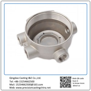 Customized Machined OEM Precision Casting Water Meter Housing Carbon Steel
