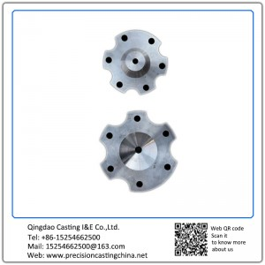 Customized Stainless steel Valve with flange lost wax casting Machinery Parts