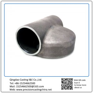 Customized Clay Sand Casting Carbon Steel Concrete Pump Pipe Spare Parts