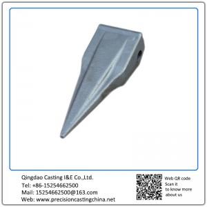 Customized Constrution Machine High Mangaenese Steel  Excavator Bucket Teeth Precoated Sand Casting