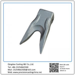 Customized Constrution Machine High Mangaenese Steel  Excavator Bucket Teeth Shell Mould Casting