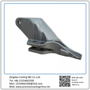 Customized Constrution Machine High Mangaenese Steel  Excavator Bucket Teeth Soluble Glass Casting