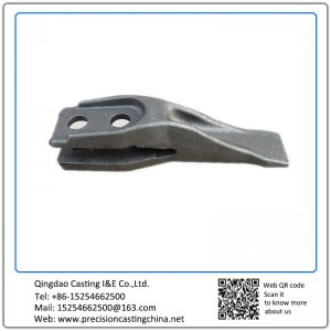 Customized Constrution Machine High Mangaenese Steel  Excavator Bucket Teeth Waterglass Casting