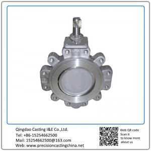 Customized Double Eccentric Butterfly Valve Resin Sand Casting Pipe Fittings Parts