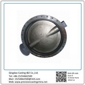 Customized Ductile Iron Butterfly Valve Disc Resin Sand Casting Pipe Fittings Parts