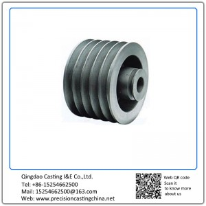 Customized Ductile Iron Construction Machinery Pulley Clay Sand Casting