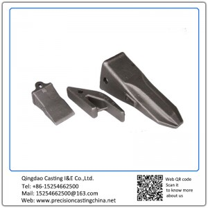 Customized Excavator Bucket Tooth High Manganese Steel Resin-bonded Sand Casting