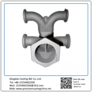 Customized Flow Distribution Valve Housing Mild Steel Resin-bonded Sand Casting