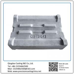 Customized Hammering Edge High Chromium casting iron Resin Sand Casting  90kg