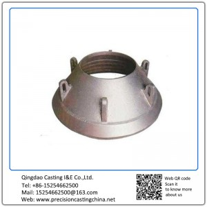 Customized High Manganese Steel Crusher Cone Precoated Sand Casting