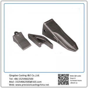 Customized High Manganese Steel Excavator Teeth Resin Coated Sand Casting