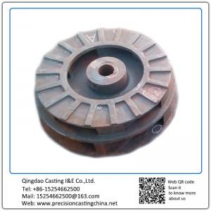 Customized Impeller for oil pump Resin-bonded Sand Casting High Chromium Cast Iron