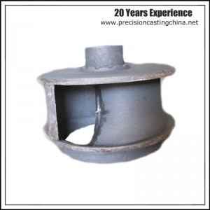 Spherical Cast Iron Oil Machine Impeller Clay Sand Casting