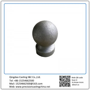 Customized Resin Coated Sand Casting Grey Iron Handrail Ball