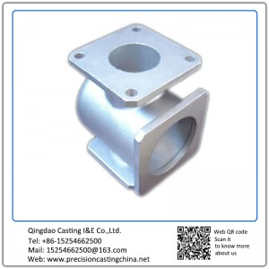 Customized Zinc plated iron casting process machining valve with flange