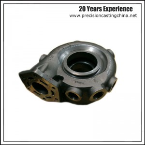 Turbocharger Carbon Steel Soluble Glass Casting Concrete Pump Spare Parts