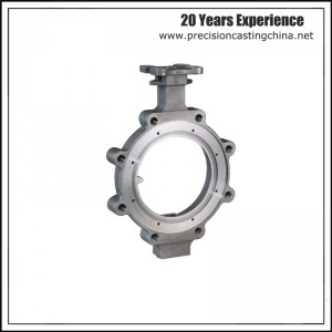 Machined Butterfly Valve Shell Alloy Steel Resin Sand Casting