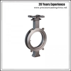 Machined Butterfly Valve Shell Ductile Iron Resin Coated Sand Casting