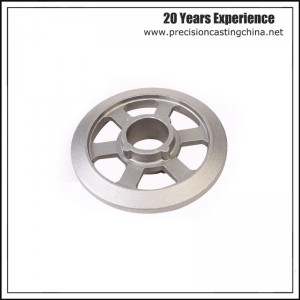 OEM Cold Forged Aluminum Pulley Resin-bonded Sand Casting