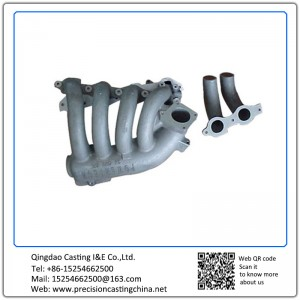 Aluminum Alloy Casting Exhaust Pipe Resin Sand Casting