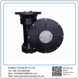 ASTM DIN Standard Custom Made Cast Nodular Iron Electrical ??Electric)Worm Gear Operator Solid Investment Casting