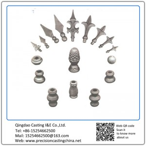 Forged Casted Ornaments Head Material Grey iron and ductile iron Carbon steel