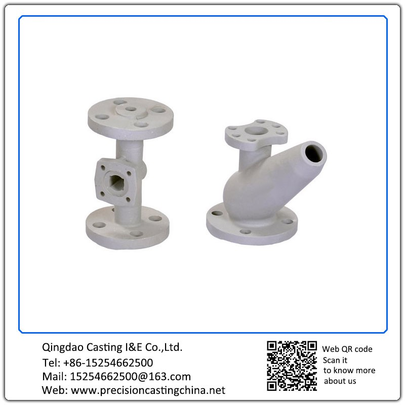 Customized Resin Sand Casting Cast Nodular Iron Valve Components with Flange